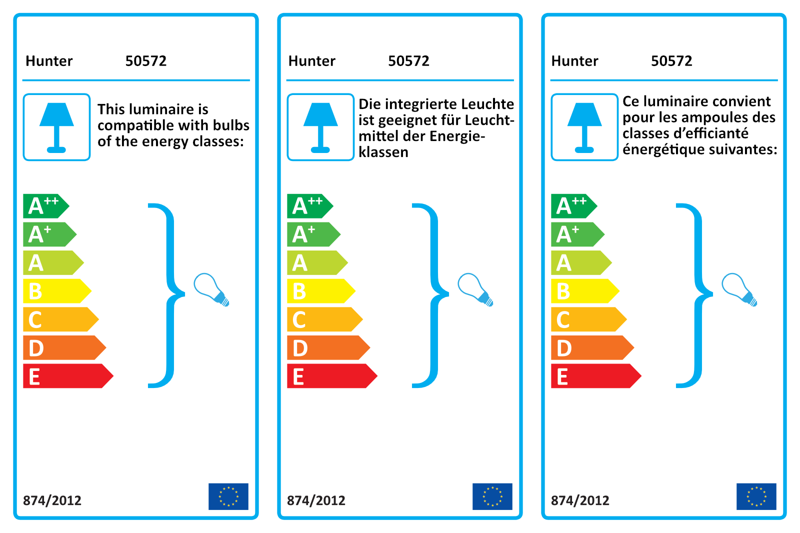 Energy efficiency label Hunter Builder