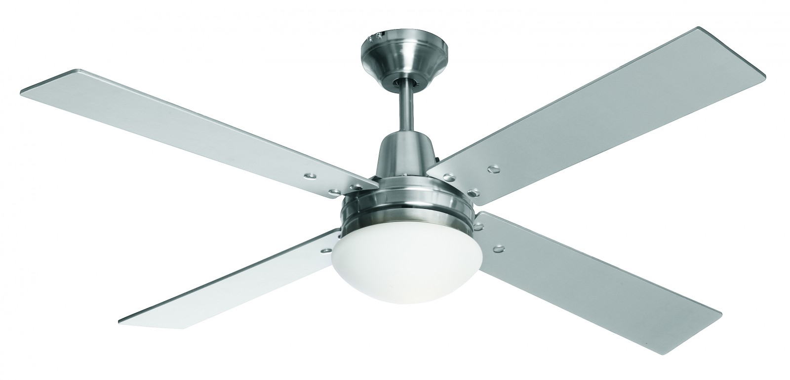 Ceiling Fan Airfusion Quest Ii Chrome Brushed 122 Cm 48